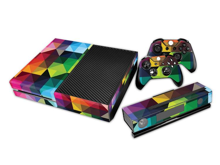 Original Colorful Crystal Skin Sticker Protector For Microsoft For Xbox one Console Controller Gamepad Perfect Christmas Gift