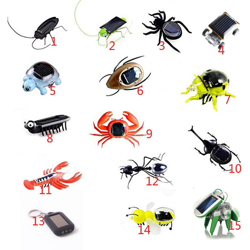 Insect Solar toys Solar grasshopper Educational Solar Powered Grasshopper Robot Toy required Gadget Gift No batteries for kids