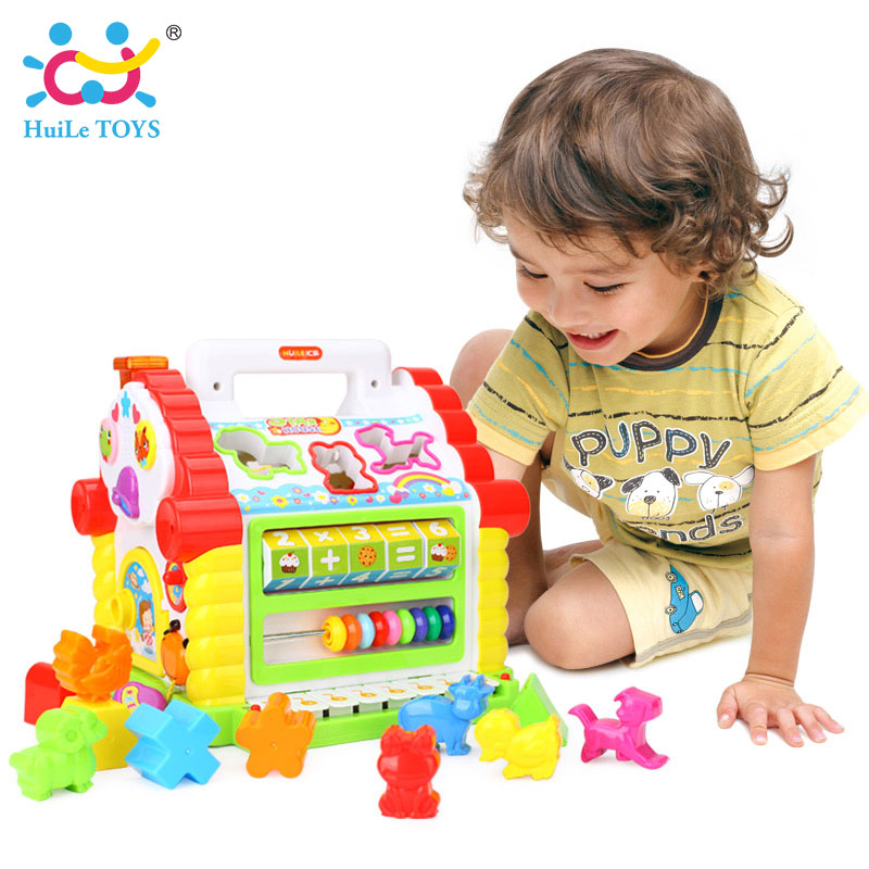 HUILE-TOYS-739-Multifunctional-Musical-Toys-Baby-Fun-House-Musical-Electronic-Geometric-Blocks-Sorting-Learning-Educational-Toys-1