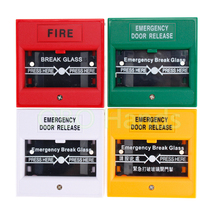 Free shipping Plastic Break Glass Emergency Exit Escape Life-saving Switch Button Fire Alarm Home Safely Security Red