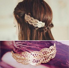 New revenue model of ancient gold in 2015 opened the lace clip first women jewelry Leaves hair clip hair clip headdress revenue model optimization of android gaming apps