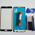 Front Outer Glass Lens Display Panel for Samsung Galaxy note 3 N9005 N900 Replacement Part & LOCA glue & Tools Kit & adhesive