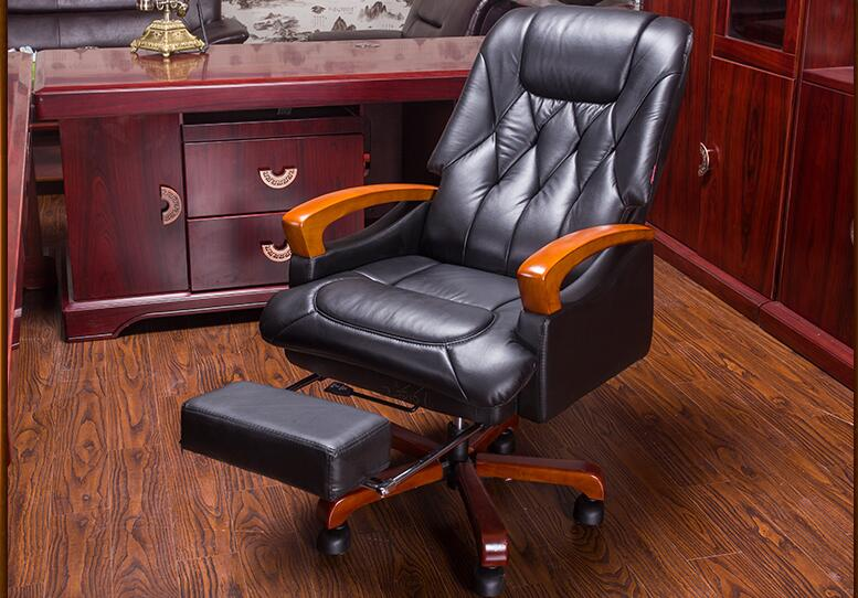 Boss chair. Real leather chair. Can lie massage solid wood chair. 25