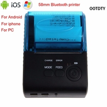 Ootdty zj-5805 Bluetooth 4.0 Android 4.0 pos получения Портативный Термальность принтер Билл Машина для супермаркета EU/US /Великобритания Plug