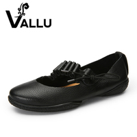 Handmade Genuine Leather Women Flat Shoes New Arrival Casual Shoes Ladies Round Toe Elastic Band Women