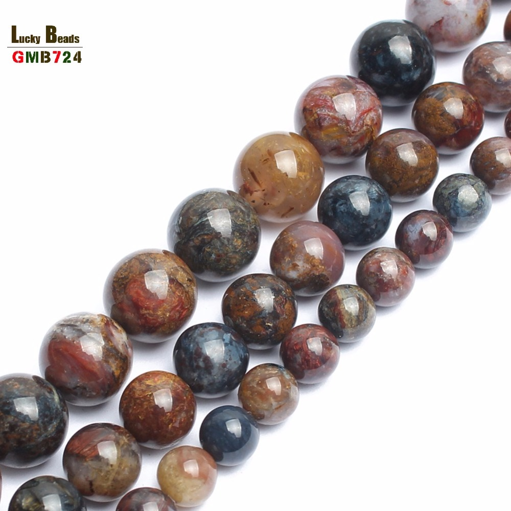 Natural Pietersite Stone Round Loose Beads For Jewelry Making 15inches/strand 6/8/10/12mm Beads Making Bracelet Diy Jewelry