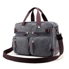цены Men Canvas Bag Men Crossbody Bags Messenger Men's Travel Shoulder Bags Tote Laptop Briefcases Handbags