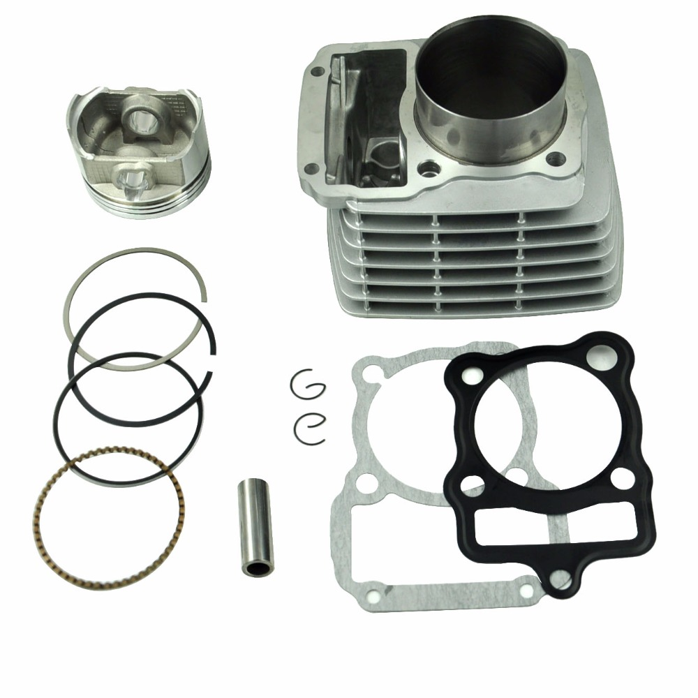 LOPOR 65.5mm Cylinder Bore & Piston Kit Gasket All Sets For Honda CG200 200CC Motorcycle Air-Cooled 39 5mm cylinder piston ring gasket kit brand new ktm50 ktm 50 sx junior water cool engine cylinder barrel piston kit