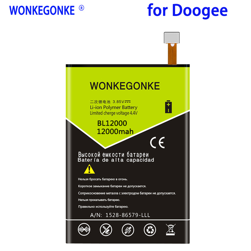 WONKEGONKE <font><b>12000mah</b></font> For <font><b>Doogee</b></font> BL12000 <font><b>Battery</b></font> BL12000 PRO High quality mobile phone <font><b>battery</b></font> with tracking number image