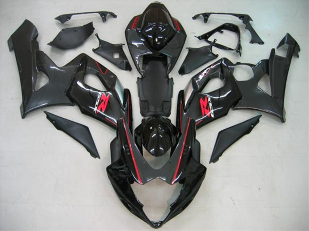 Motorcycle ABS Bright Black Fairing Body Work Cowling For SUZUKI GSXR1000 GSXR 1000 K5 2005 2006 +4 Gift