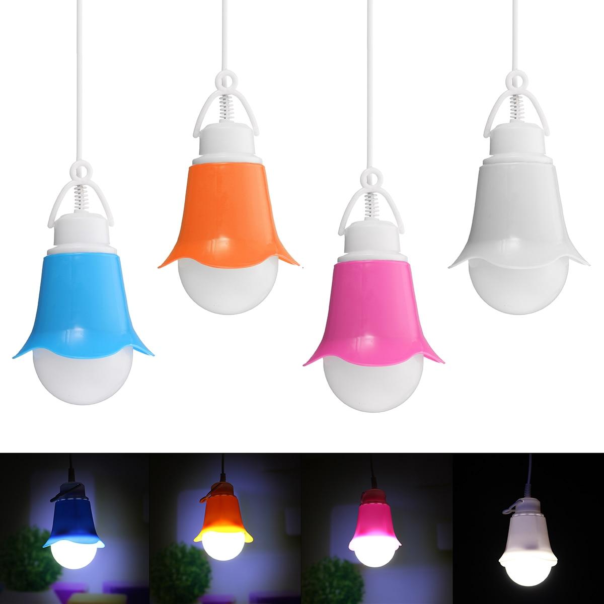 5W Mini LED Hang lamp Bulb USB Petal Globe LED Light Bulb DC 5V Hanging Lamp With Wire Energy Saving pendant Lights