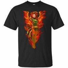 Jean Grey Dark Phoenix T-shirt Xmen Marvel Comics Tee Shirt Short Sleeve S-3XL Funny Print Tops Men top  tee цена 2017