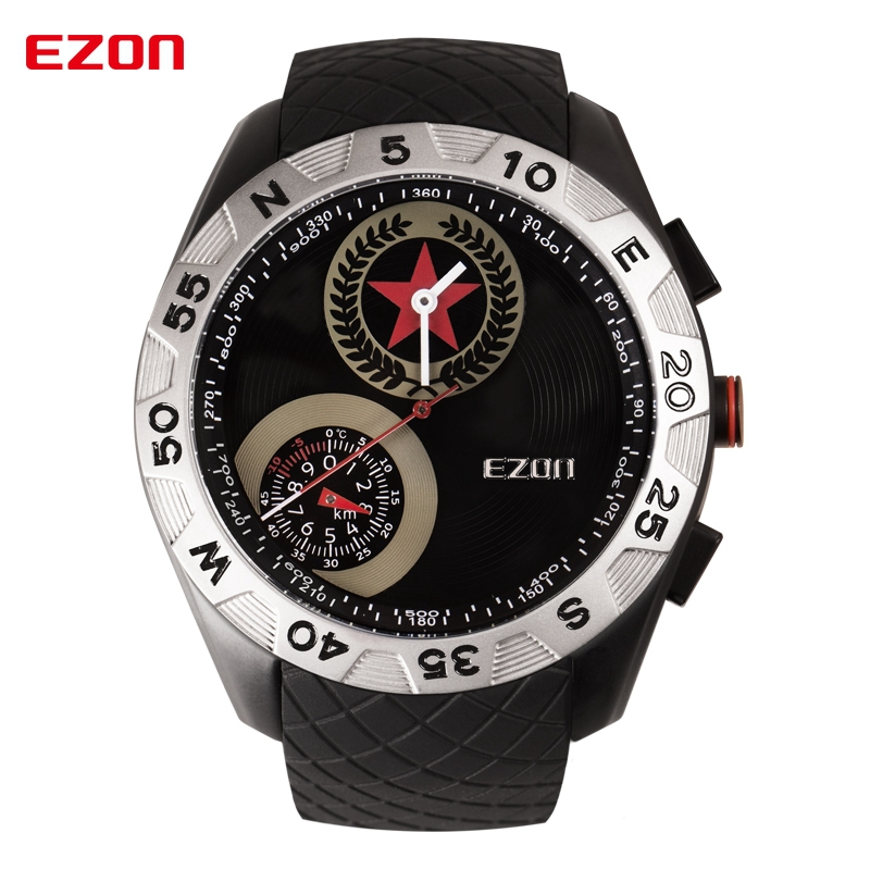 Mens Watches Top Brand Luxury Quartz Watch Sport Military Clock Men Wristwatch With Altimeter Compass Watch For Men Reloj Hombre top brand sport men wristwatch male geneva watch luxury silicone watchband military watches mens quartz watch hours clock montre