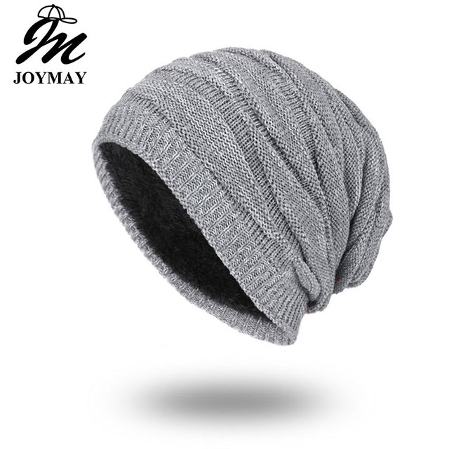 c684f00d88038 Joymay 2018 Winter Beanies Solid Color Hat Unisex Plain Warm Soft Skull  Knitting Cap Hats Touca Gorro Caps For Men Women WM055