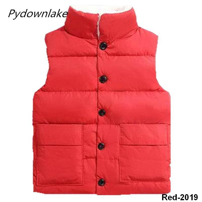 2019 New Style Pydownlake Casual Unisex Solid Denim Berber Fleece Vests Waistcoats Winter Cotton Baby Boy Vest Kids Vest Vest in Vests from Mother Kids