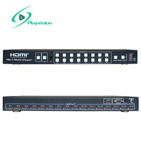 1080P Hdmi Seamless Switcher 16X1 With Multi Viewer 16 In 1 Out Hdmi 1.3 Hdcp 1.2 Support Panel Key Ir Rs232 Control