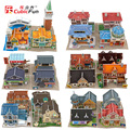 Original Brand World Style Creative 3D Jigsaw Puzzle 3D Puzzle Handmade Toys Children's Educational Chalets Model Building Kits