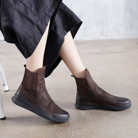 2018 hot new Women Winter Boots Fashion Casual Women Boots Warm Winter Boots Genuine leather Round head women's boots