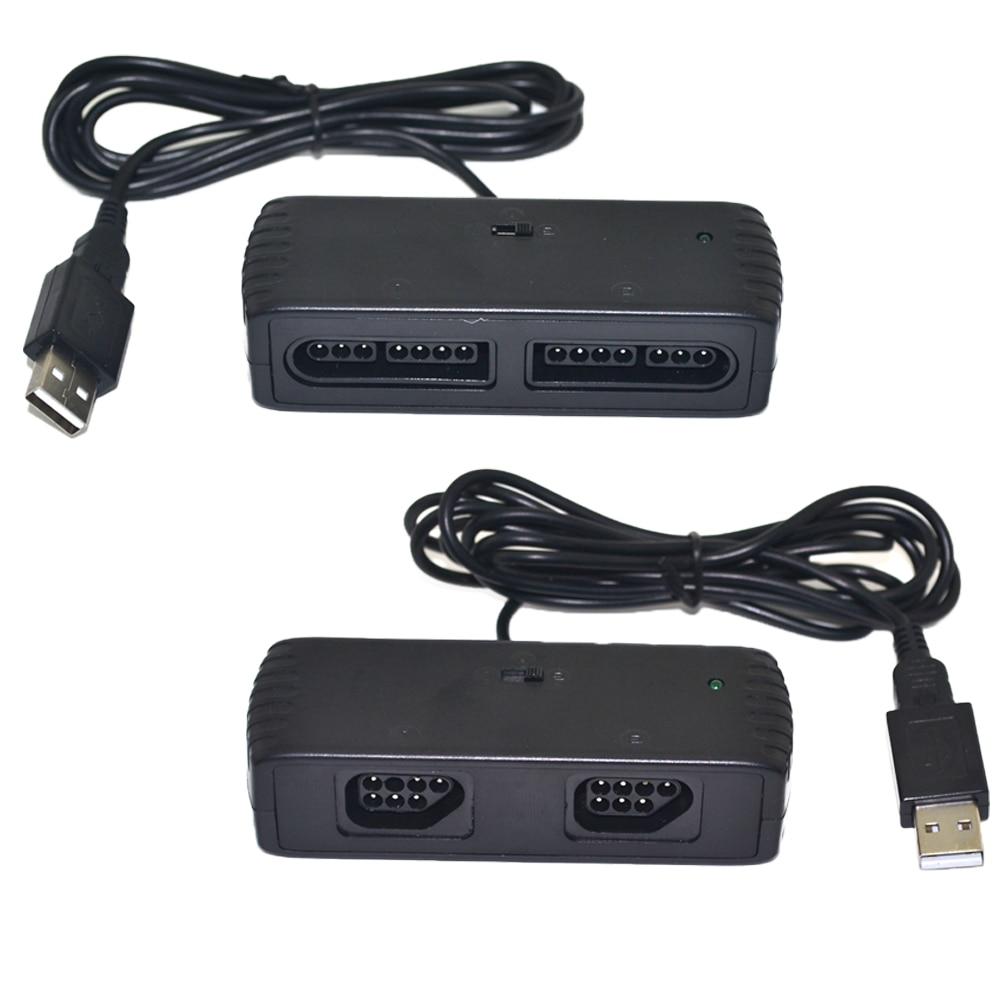 лучшая цена 10PCS 2Players Controller OTG USB Adapter for SNES TO SEGA GENESIS, MD, Atari Gamepad,for STEAM/Android/PC/MAC/Raspberry PI
