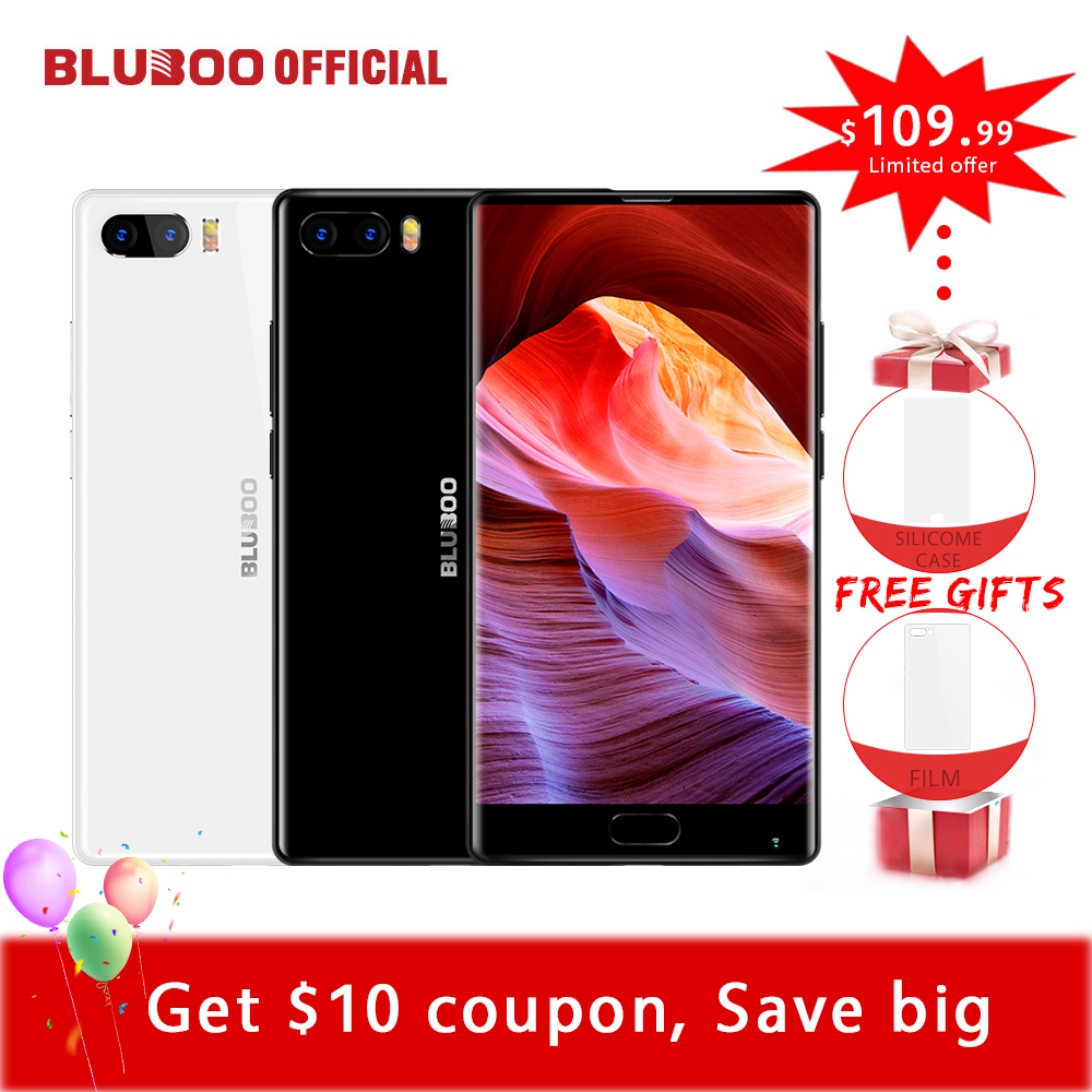 Bluboo S1 5.5 ''FHD Smartphone MTK6757 Octa Core Plein Écran 4 GB RAM 64 GB ROM Android 7.0 Double Caméra Arrière 4G Mobile Téléphone OTG