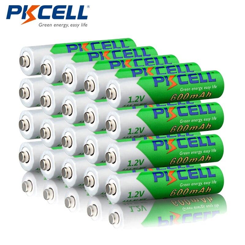 20 шт. PKCELL AAA аккумуляторная батарея 600 мАч AAA 1,2 в NIMH LSD предварительно заряженные батареи для фонарей дистанционное управление| |   | АлиЭкспресс