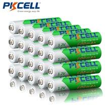 20 piezas PKCELL pilas recargable aa  600mAh AAA 1,2 V NIMH LSD baterías precargadas para linternas de Control remoto