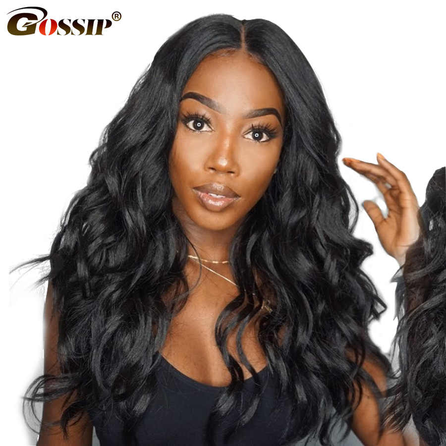 "6"" Body 360 Lace Frontal Wig Pre Plucked With Baby Hair Gossip Remy Human Hair Wigs For Women Black Wig Glueless 360 lace Wig"