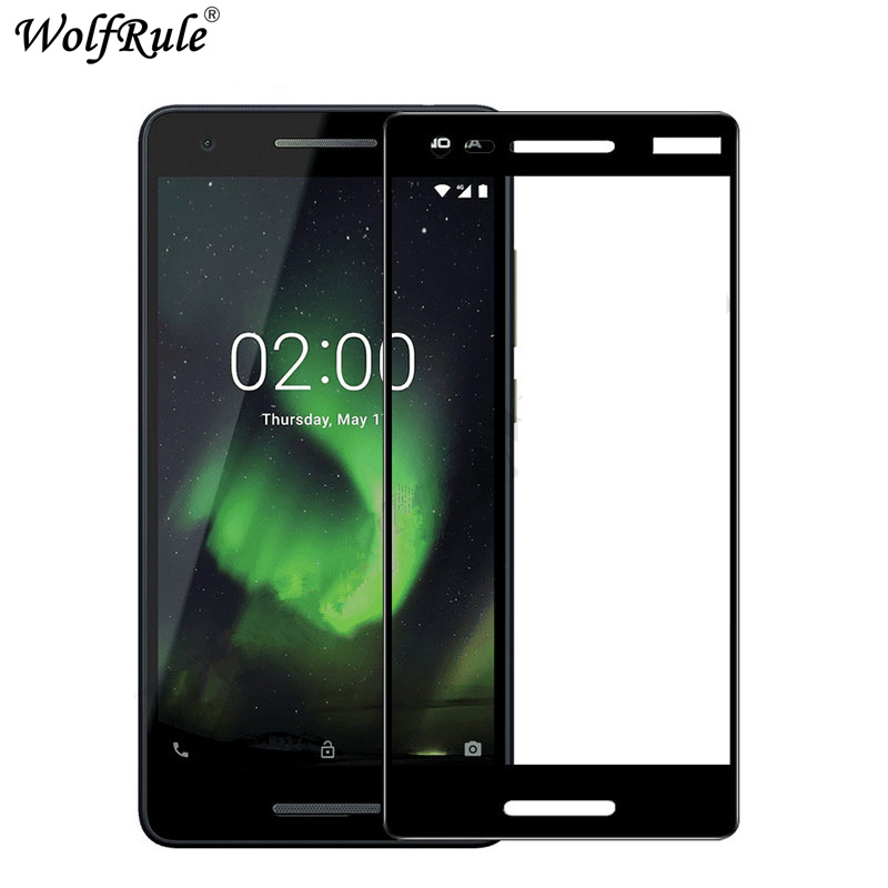 Full Cover Tempered Glass For <font><b>Nokia</b></font> <font><b>2.1</b></font> <font><b>Screen</b></font> <font><b>Protector</b></font> For <font><b>Nokia</b></font> 2 2018 Glass 9H Hardness Protective Film For <font><b>Nokia</b></font> <font><b>2.1</b></font> TA1080 image