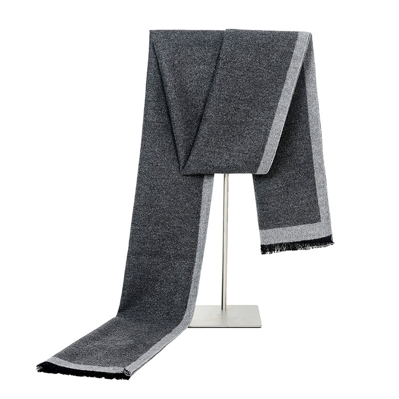 Cashmere Scarf Business Peacesky Striped Winter Men's New-Brand Bufanda Gift Gray Gentleman