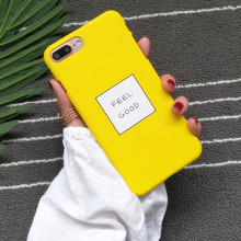 Здесь можно купить  Funny Cartoon Letters FEEL GOOD Phone Cases For iphone 6 case Slim Cute Candy Color Hard Cover Coque For iphone 6s 7Plus 5s Capa
