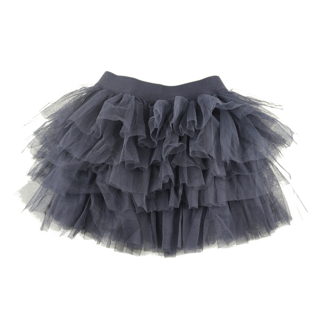 Winniefashions Nhà Máy! new 2014 Màu Đen Màu Cotton Vải Tuyn Váy Váy Bé Gái Toddler Kids Váy 3-12years Miễn Phí Vận Chuyển