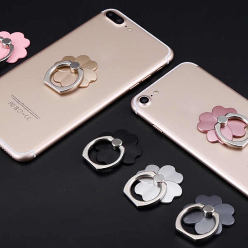 Điện thoại Nhẫn Di Động Thông Minh Đế Đứng Dành Cho iPhone X 8 7 Redmi 4X Mi A1 Note 4x5 t Mi 6 4A Mi 5 Honor 9 Cỏ Bốn Lá May Mắn