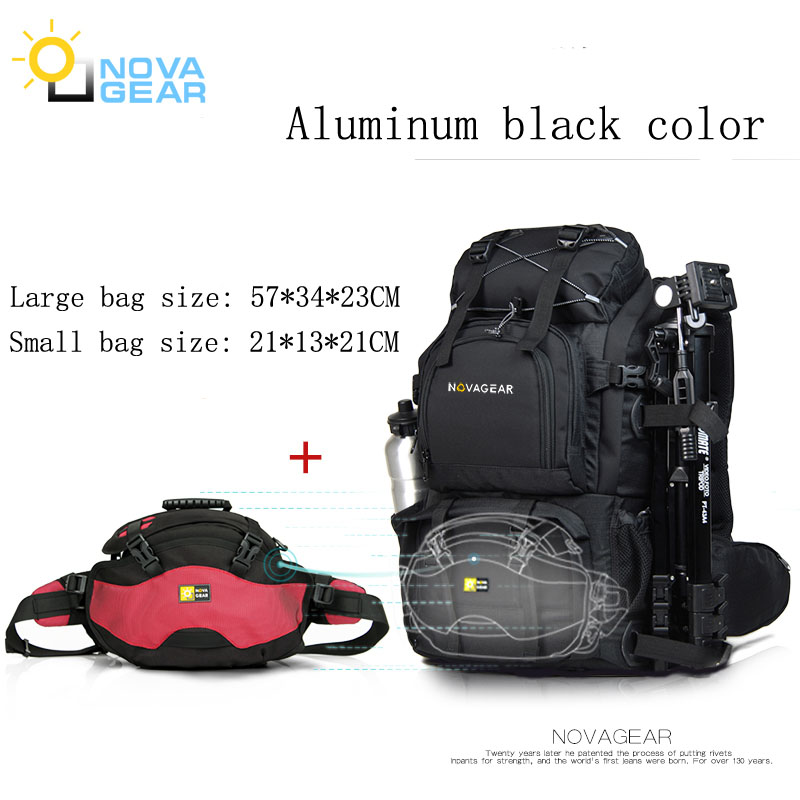 NOVAGEAR 80302 foto Cámara bolsa mochila Universal de gran capacidad de viaje mochila para Canon/Nikon cámara Digital