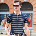 POLO Shirt Men's Striped Lapel Business Leisure Brand POLO Shirt Summer ThinTrend Short Sleeve Printing Casual Polo Shirt Tops