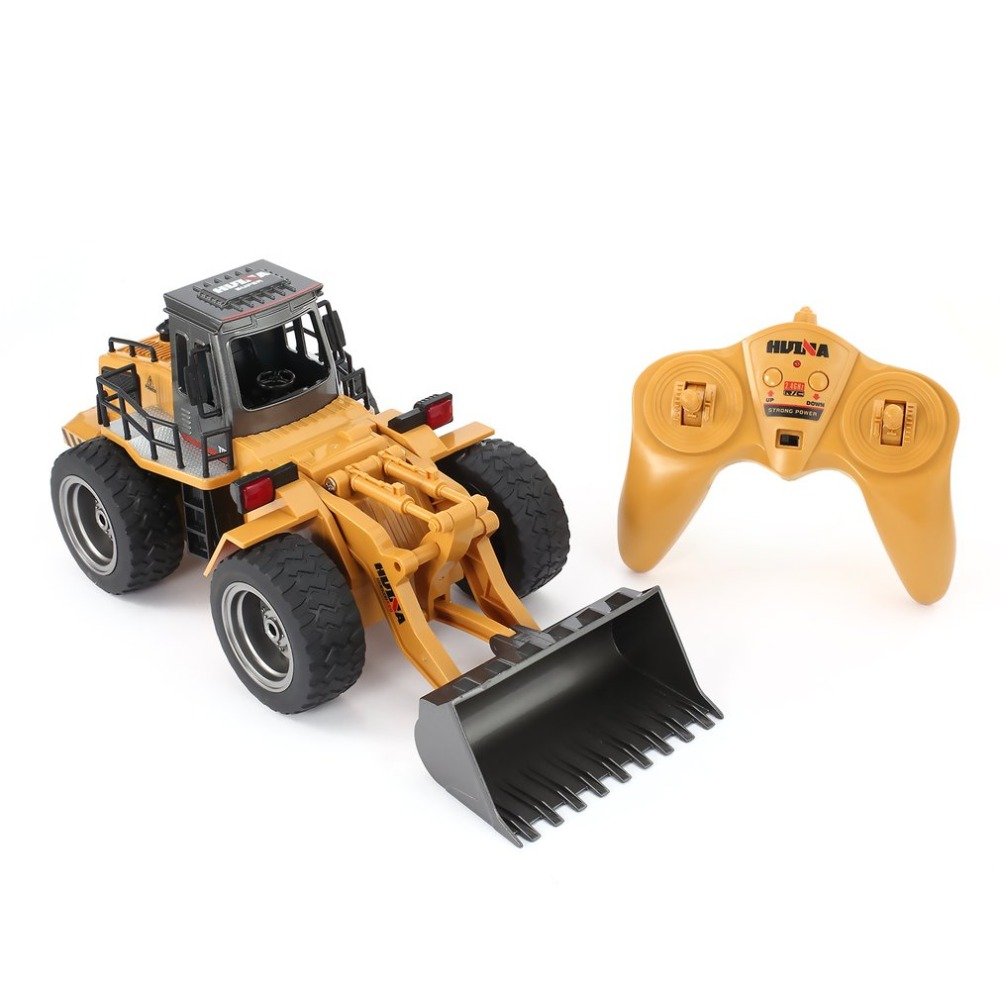 HUINA 1520 6CH RC Metal Bulldozer Remote Control Tractork RTR Front Loader Engineering Toy Vehicle For Kids Toys Gifts