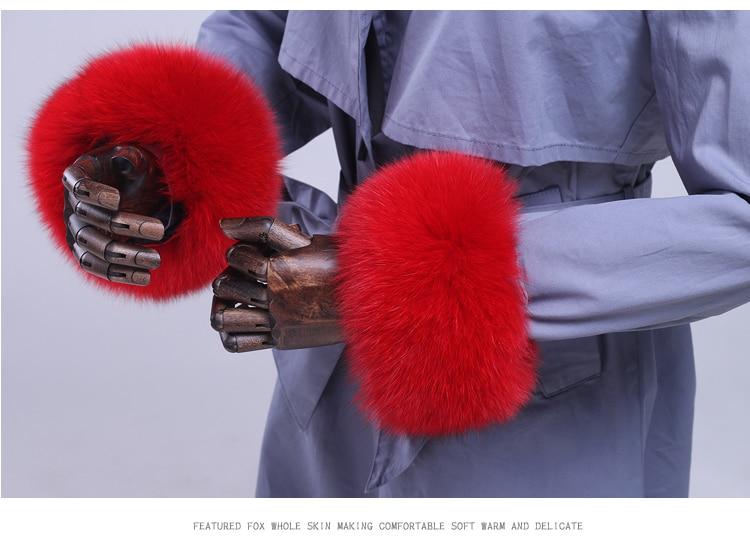 Armstulpen Fuchs Pelz Manschetten Echten Fuchs Pelz Manschette Arm Wärmer Dame Armband Echtpelz Armband Handschuh Waschbären Pelz Manschetten Pyccknn Mex 2019 New Fashion Style Online