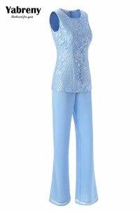 Image 3 - Yabreny エレガントな母花嫁のパンツスーツのラベンダーシフォン衣装特別な日のため MT001704 2