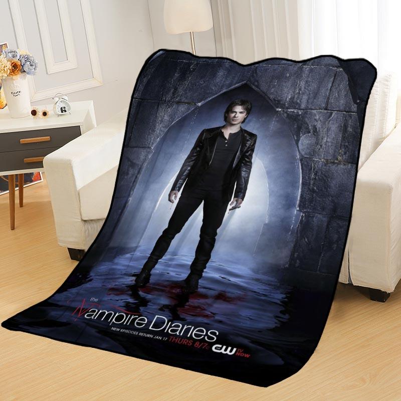 New Arrival Ian Somerhalder Blankets Printing Soft Nap Blanket On Home/Sofa/Office Portable Travel Cover Blanket-5