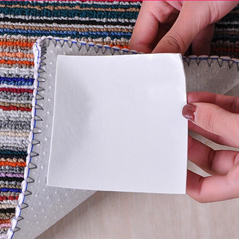 4 Stks/pak Vast Tapijt Super Viskeuze Dubbelzijdig Klevende Sterke Mat Tape Anti-slip Plakken Grond Non- Geweven Tape