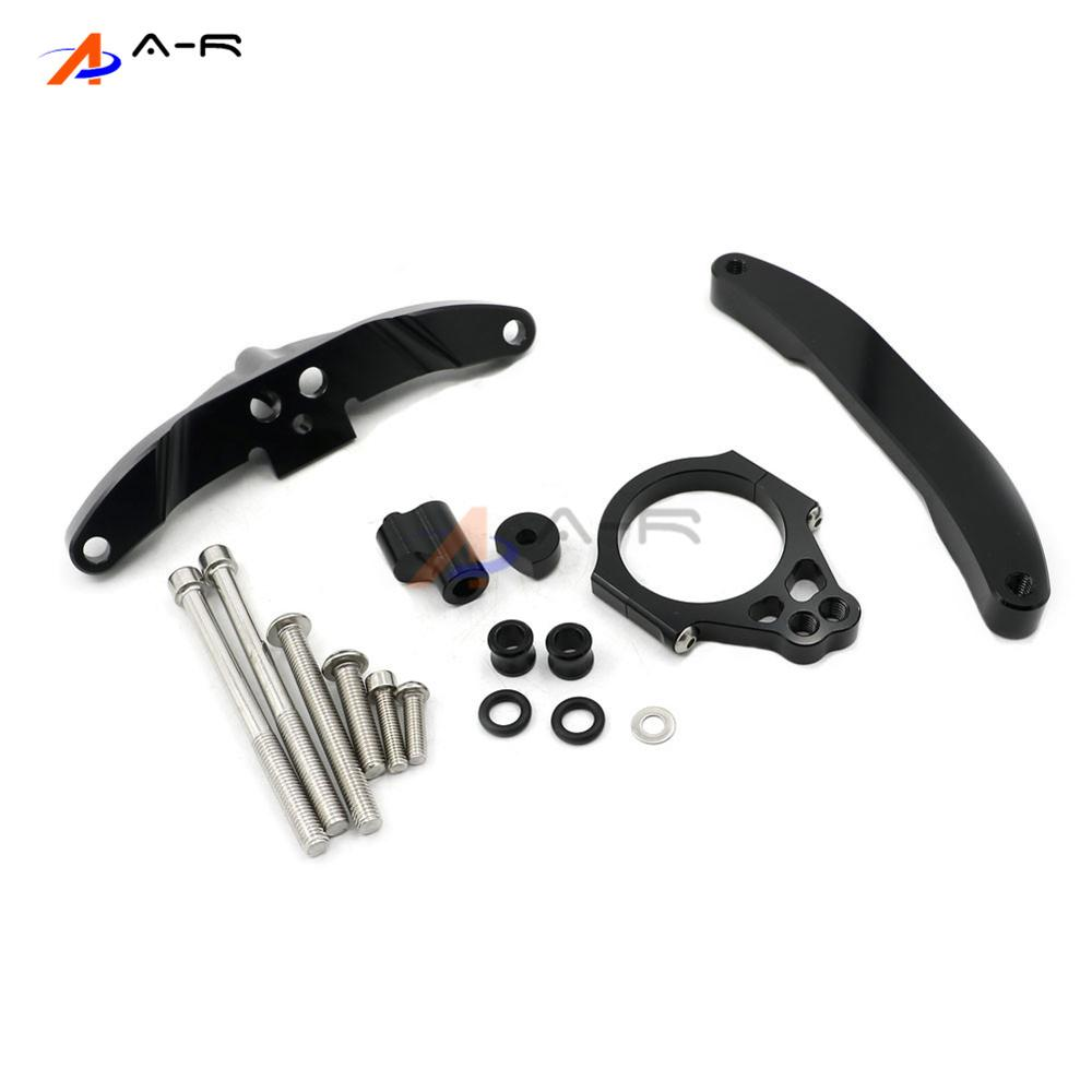 Black CNC Direction Steering Damper Stabilizer Bracket for Yamaha FZ1 FAZER 2006-2015 2014 2013 2012 2011 2010 2009 2008 2007