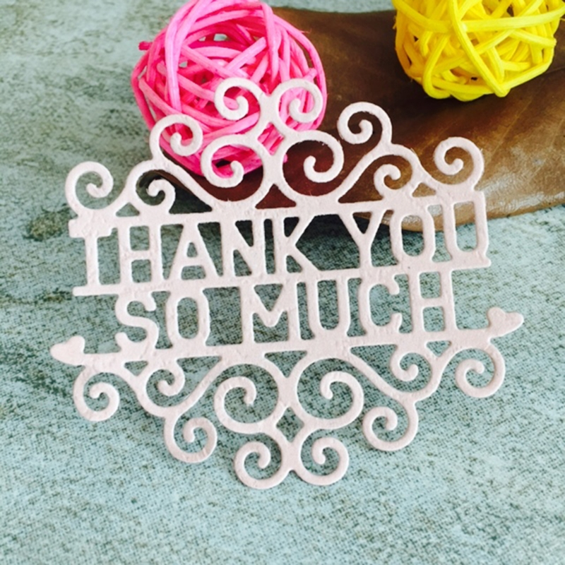 Metal Cutting Dies New 2018 Thank You So Much Cutting Dies Stencil DIY Scrapbooking Album Card Embossing Craft-W110