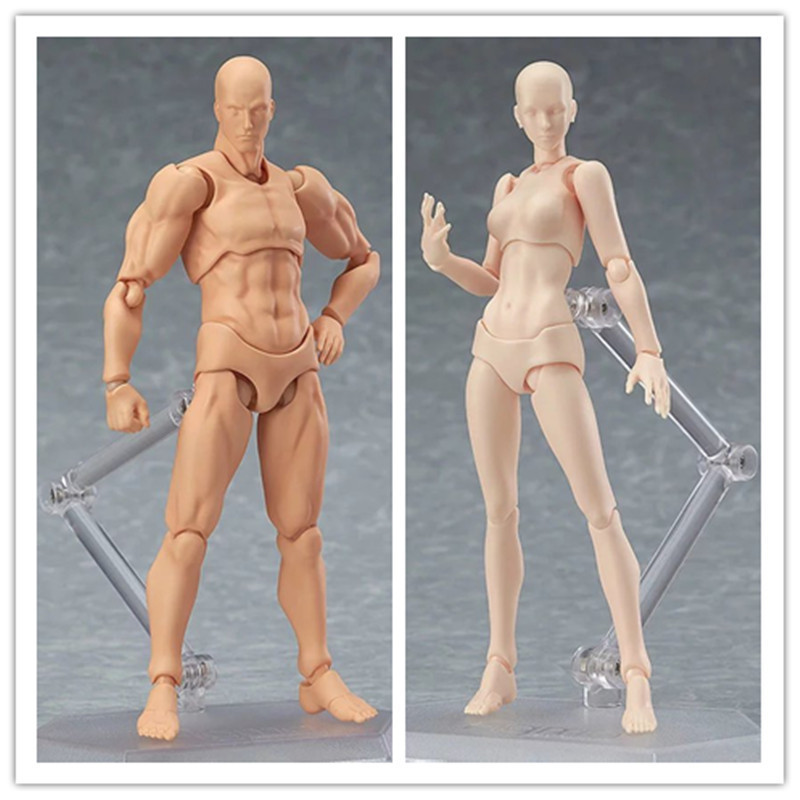 Doub K Action Figure Toys Artist Movable Limbs Male Female 13cm joint body Model Mannequin bjd Art Sketch Draw Figures new style new 2pcs female right left vivid foot mannequin jewerly display model art sketch