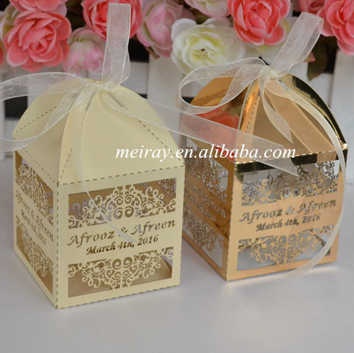 Muslim Wedding Gift: 80pcs Laser Cut Arabic Wedding Favors Wholesale Islamic