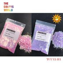TCT-253 УФ-блеск, ультрафиолетовый светильник, Микс, Шестигранная форма, ногти, блестки, украшения для ногтей, гель для макияжа, краска для лица, аксессуар «сделай сам»