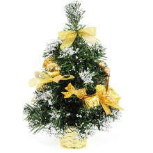Christmas decoration golden gift 30cm potted bonsai tree tops decorated Christmas tree Christmas Supplies