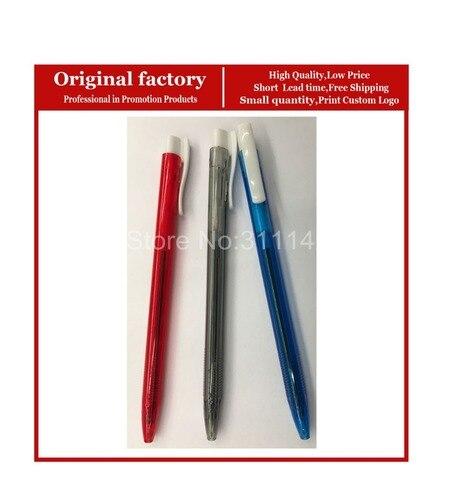 simples e barato de plastico promocionais canetas esferograficas caneta material escolar