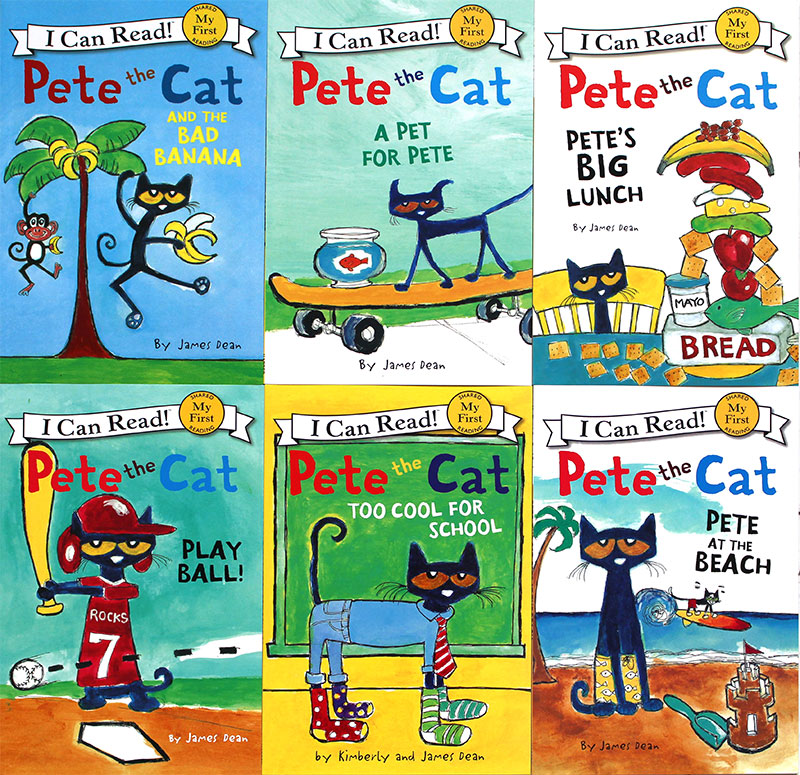 6 books First I Can Read Pete the Cat Kids Classic story books children Early Educaction