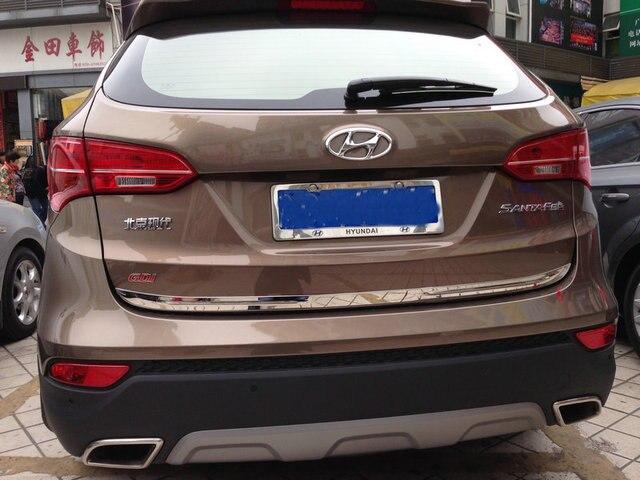 Auto rear door trim,tail trunk sticker  for  IX45  2015 ,auto accessories