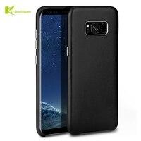 KL-Boutiquen Luxus Echtes Leder-kasten Für Samsung Galaxy S8/S8 Plus Mode Lammfell Capa Haut Fühlen Sich Hart Back Cover Coque