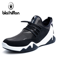 Blai Hilton 2018 New Fashion Spring/Summer men shoes Stretch Fabric shoes Breathable/Comfortable Men's Casual Shoes